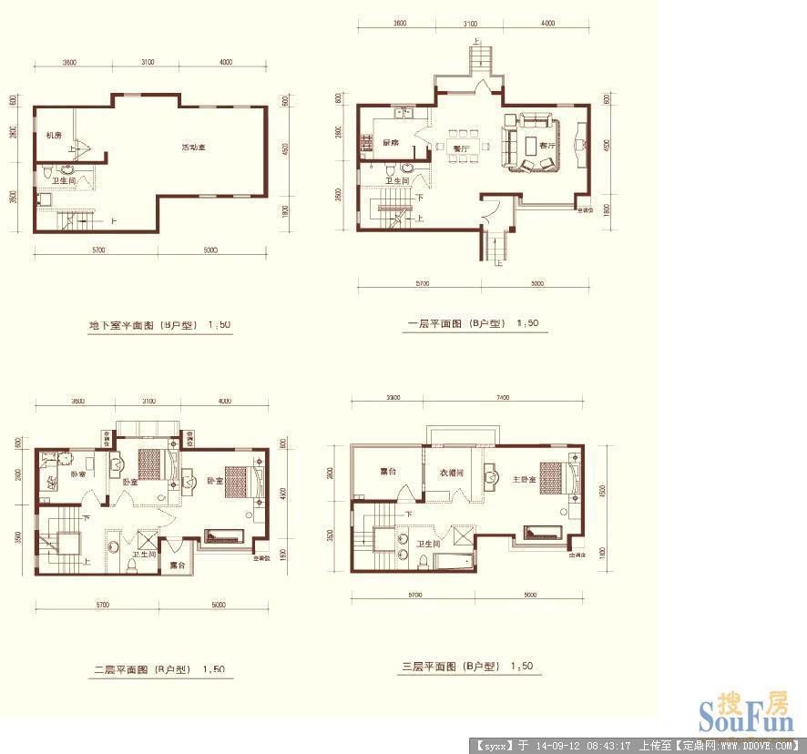 别墅户型图精细设计