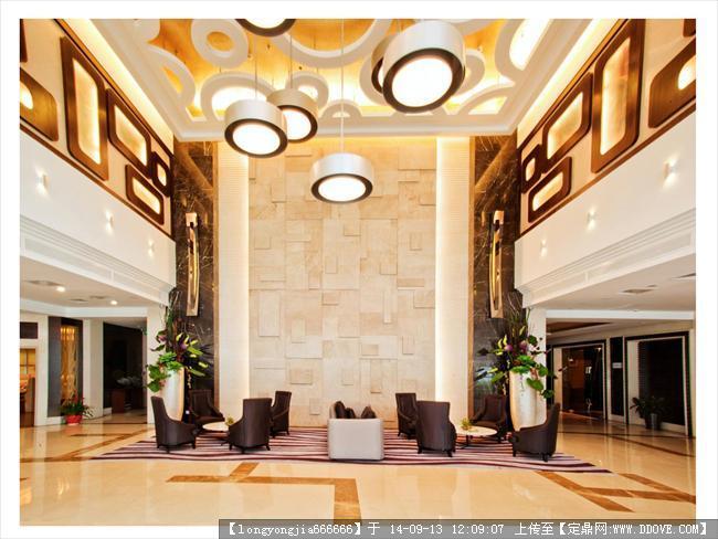 酒店大堂室内设计效果图