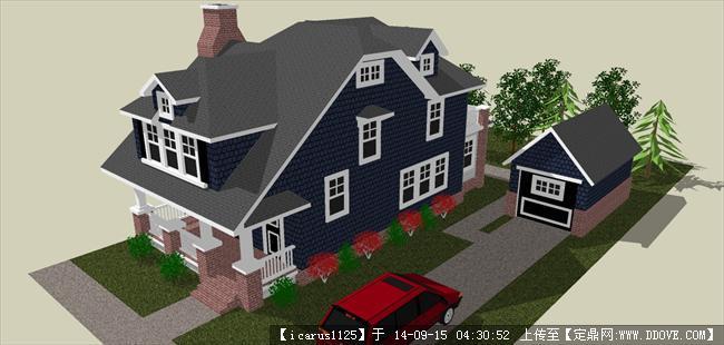 小别墅建筑设计大户型su模型
