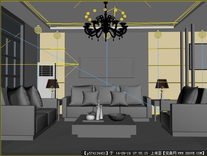 室内设计3dmax建模模型图片