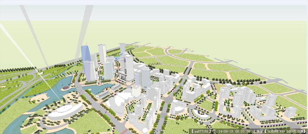 新城市片区建筑规划设计方案su精致设计模型