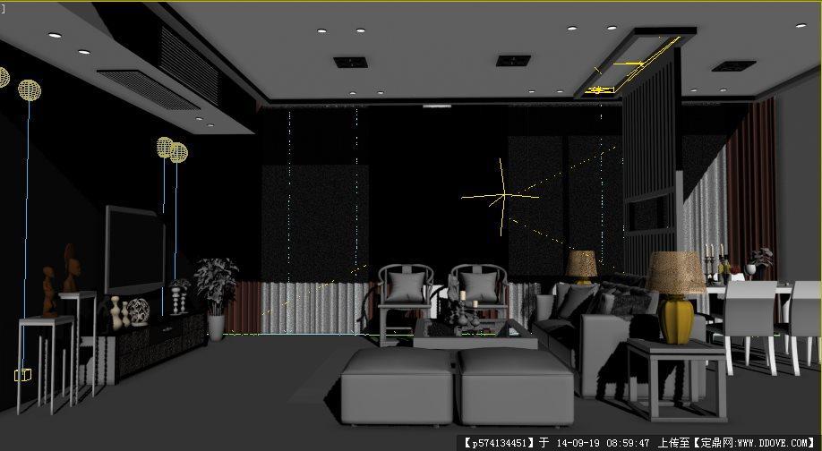 室内设计详细3dmax建模