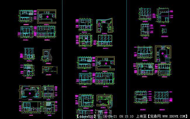 橱柜设计cad-橱柜设计图纸怎么画-橱柜设计平面图