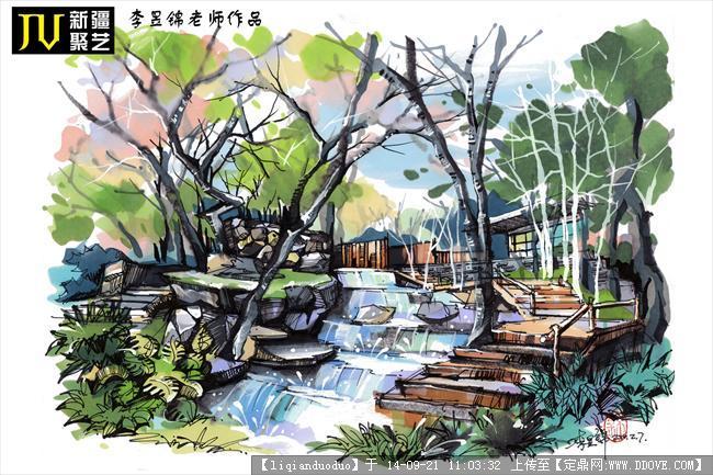 园林建筑设计手绘资料