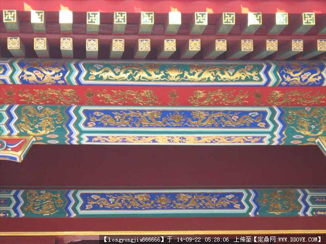 古建彩绘图案 005的图片浏览,建筑实景照片,中国古建