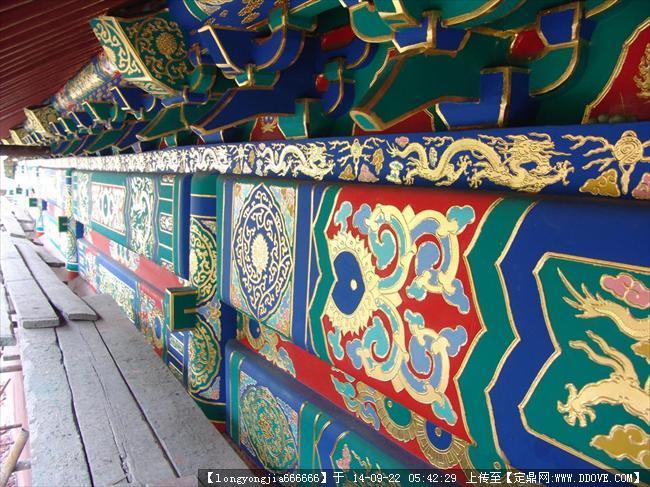 古建彩绘图案 008的图片浏览,建筑实景照片,中国古建