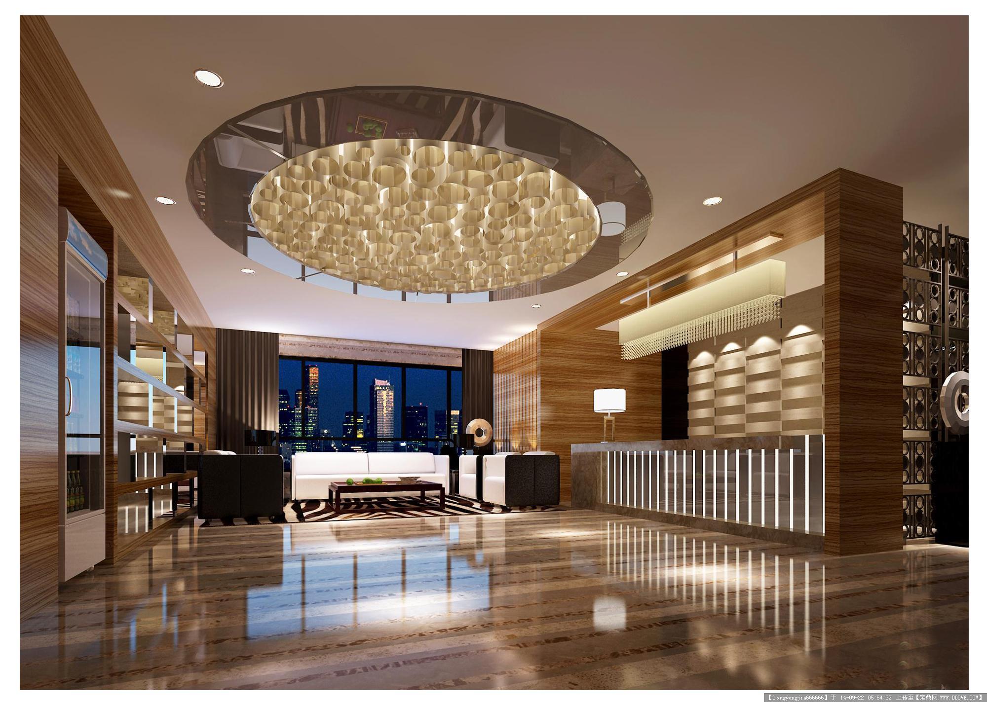 酒店大堂室内设计效果图006