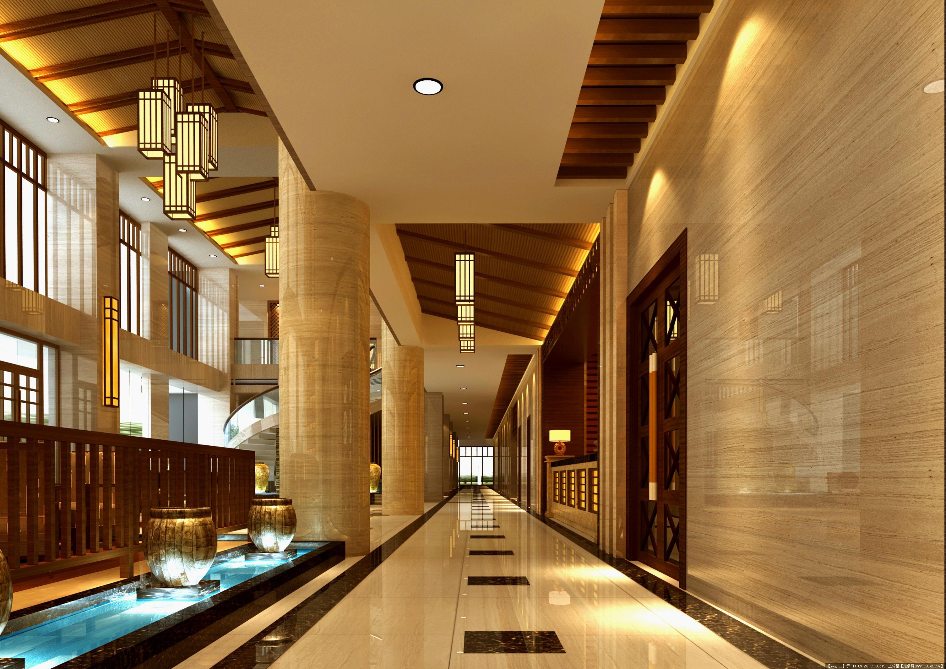 全套东南亚风格酒店装饰效果图