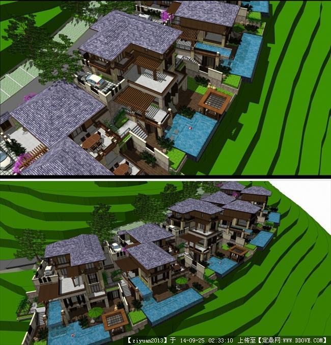 说明:   小   中   大   东南亚风格酒店建筑规划设计——su