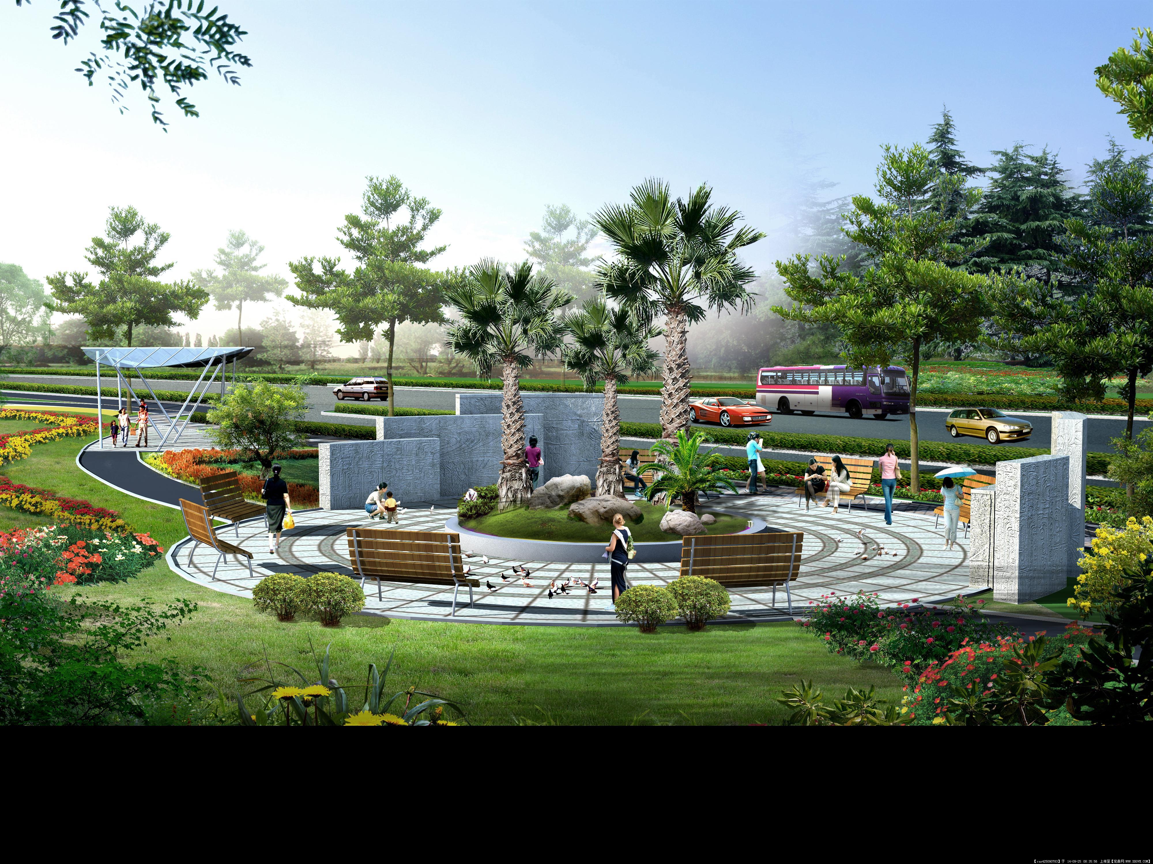 水晶石住宅公建景观设计效果图大全