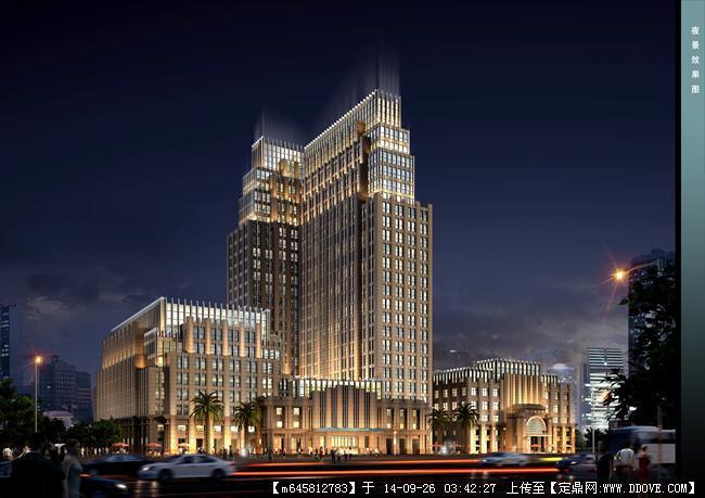 新古典风格办公楼建筑设计su模型带效果图