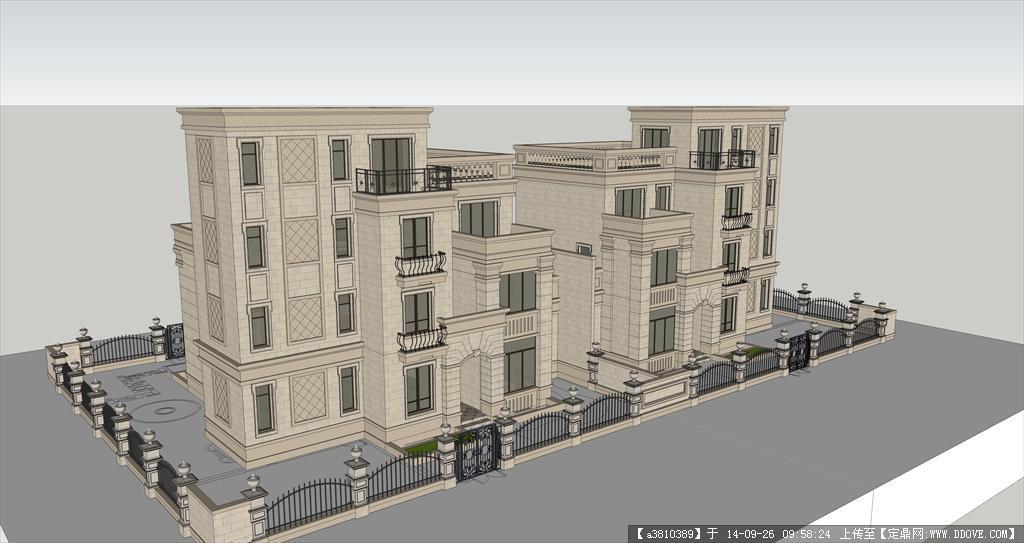 别墅建筑设计方案su模型,模型制作很详细,值得参考.   资料说