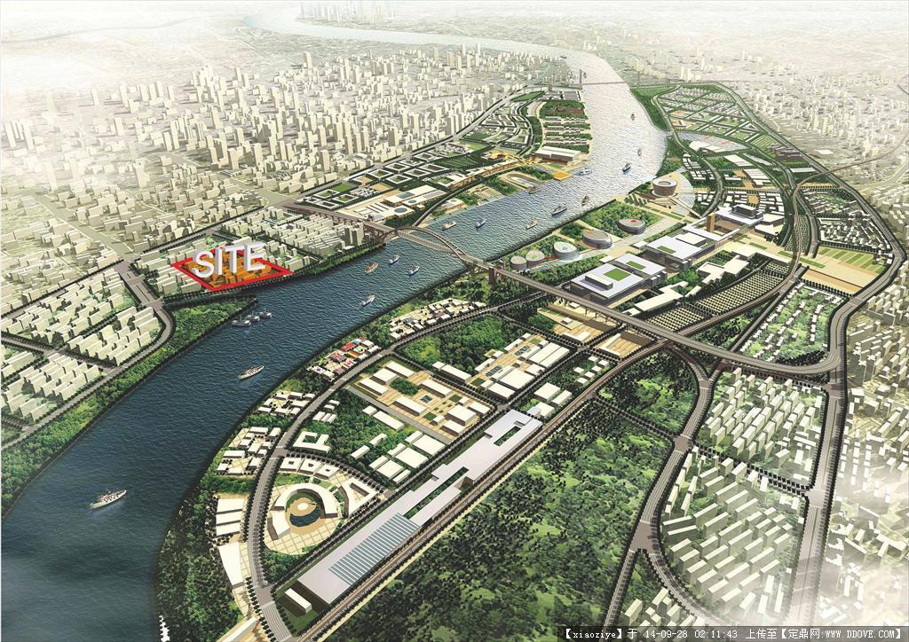 某滨水城市规划设计项目方案文本图片