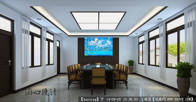实验中学附属学校会议室设计效果图图片