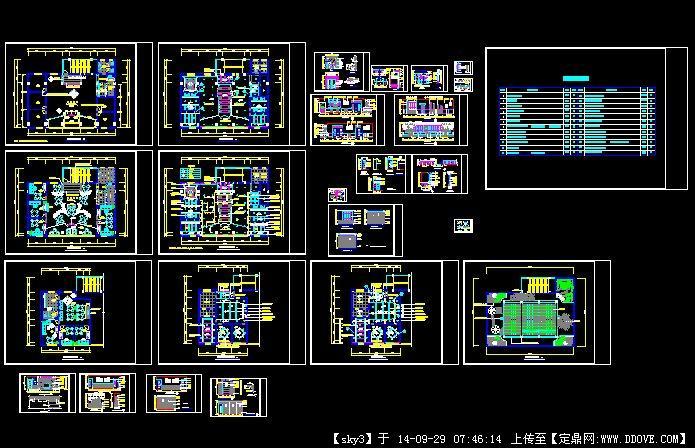 茶楼室内装修设计施工图