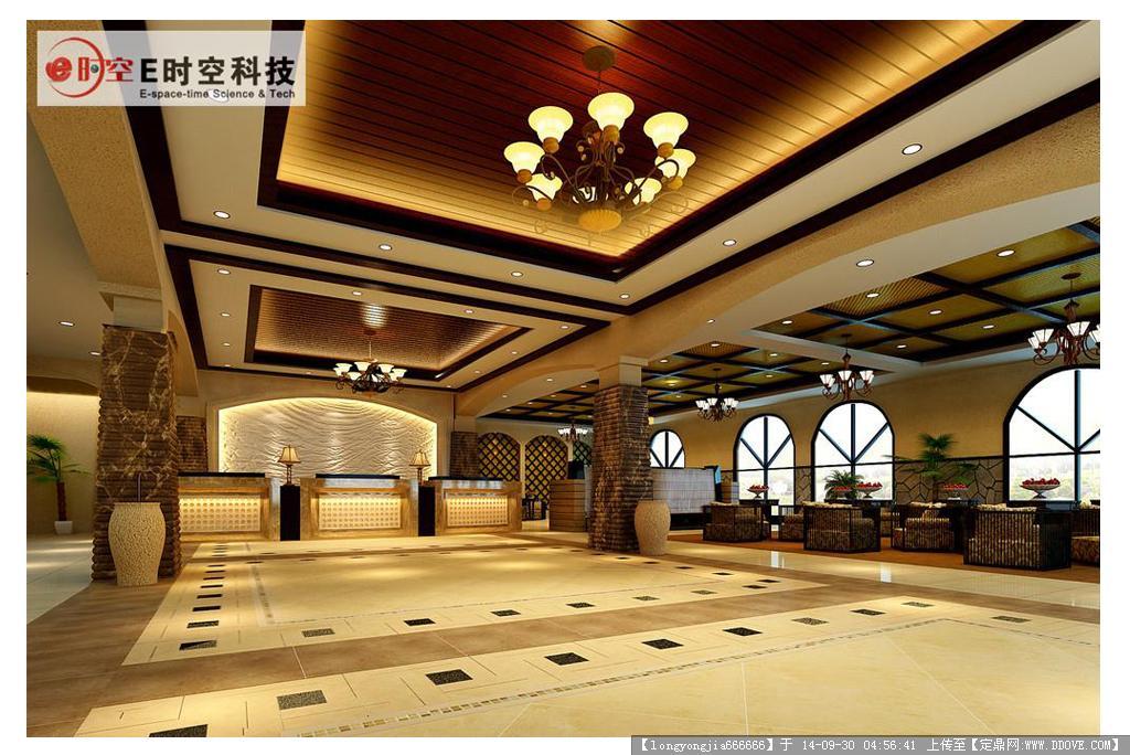 酒店大堂室内设计效果图 010