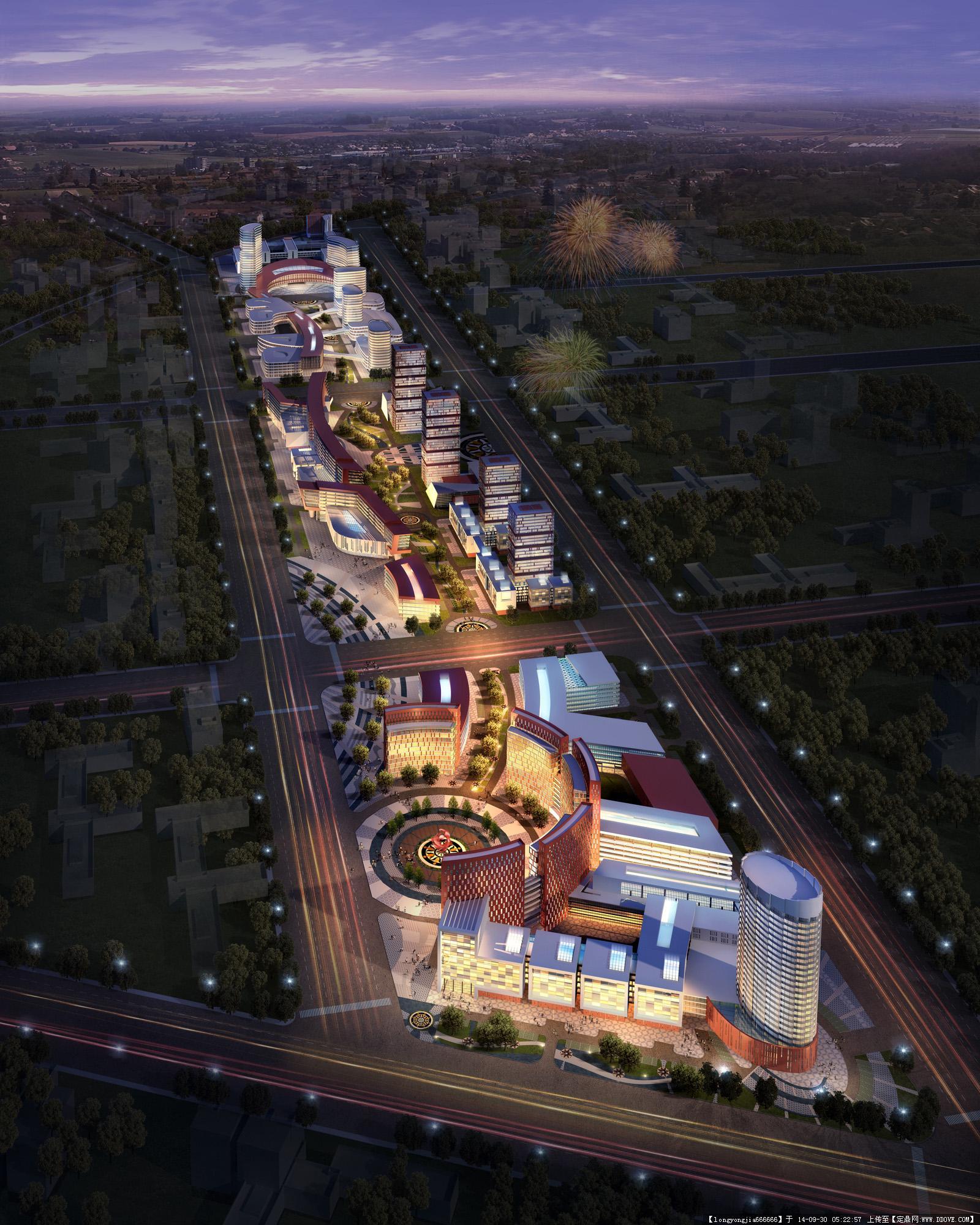 大庆高新技术产业开发区规划及建筑设计效果图图片