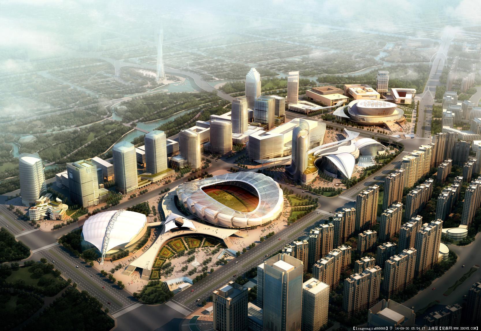 奉贤南桥城市规划设计效果图