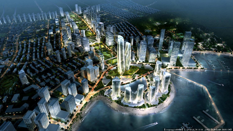 上海城市建筑简笔画