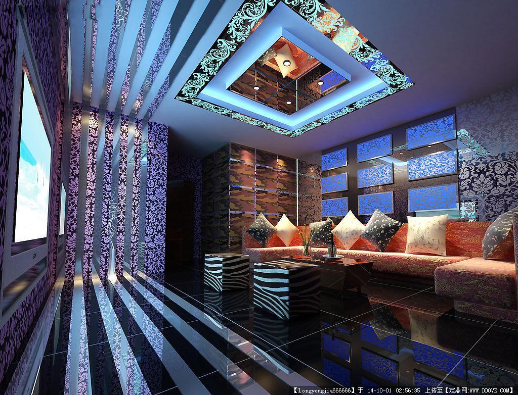 ktv 酒吧室内装饰设计方案效果图