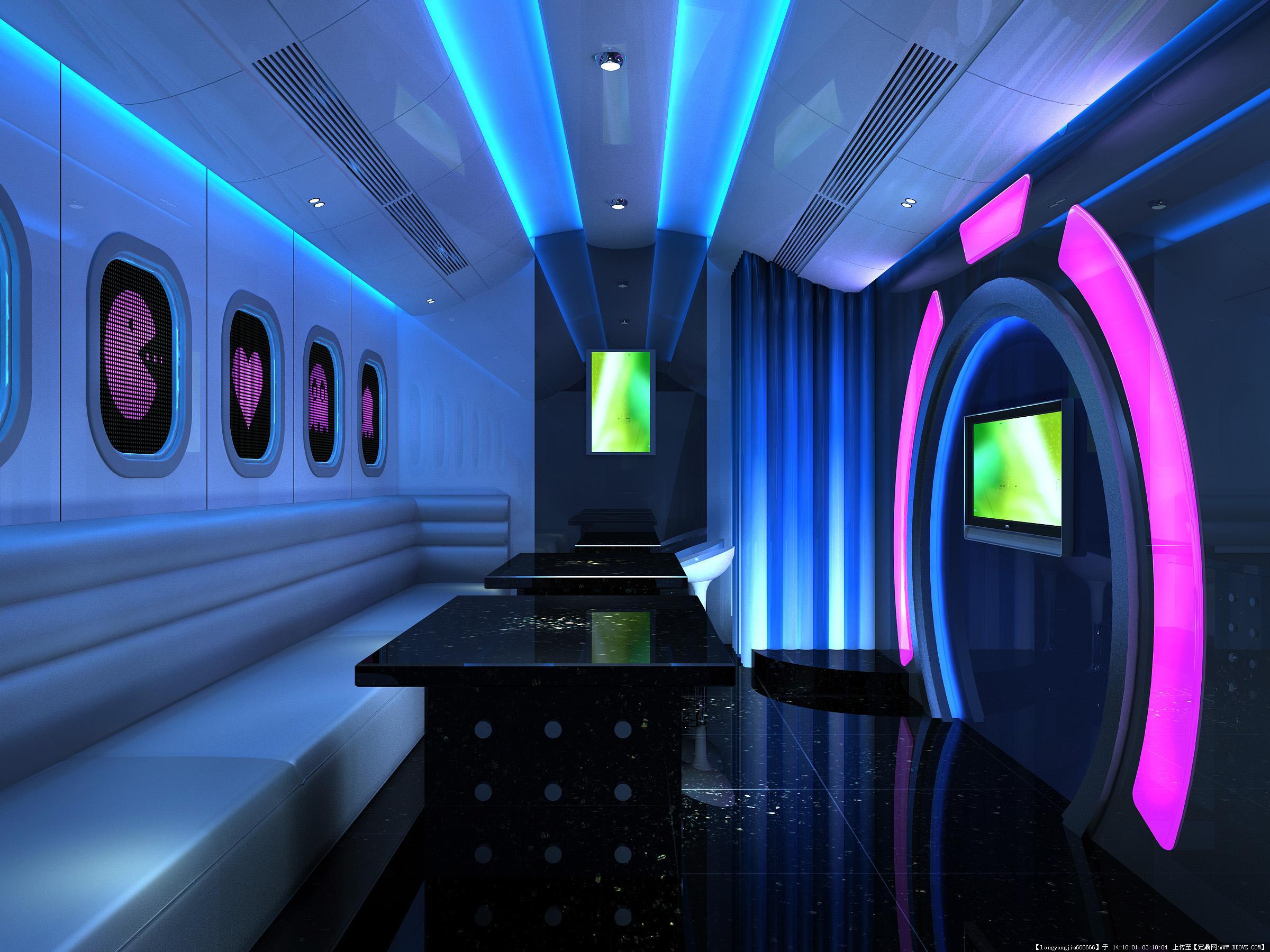 ktv 酒吧室内装饰设计方案效果图 007