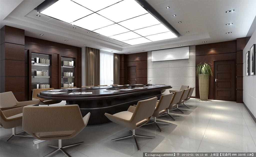 会议室室内装饰设计方案效果图
