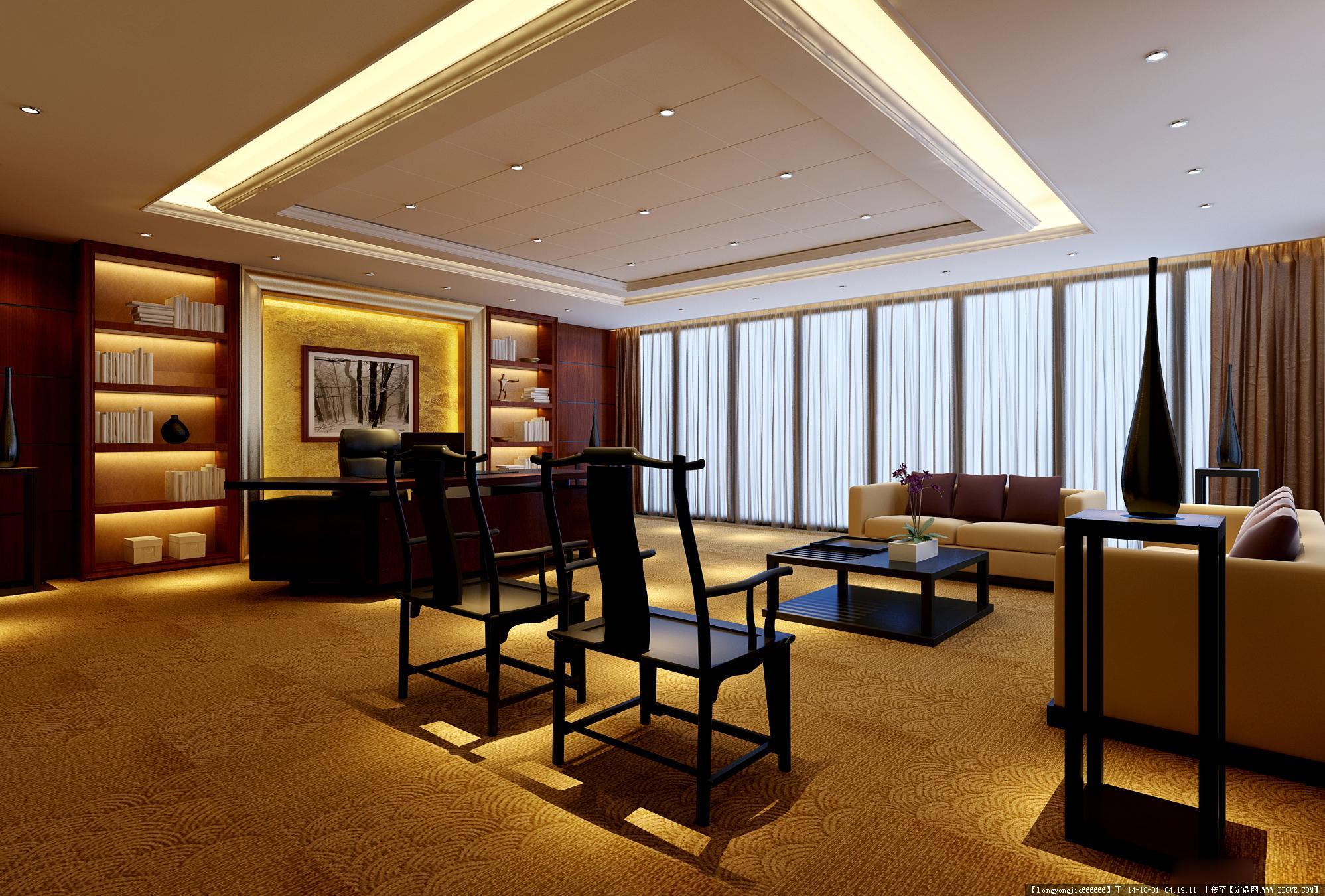 会议室室内装饰设计方案效果图 04图片