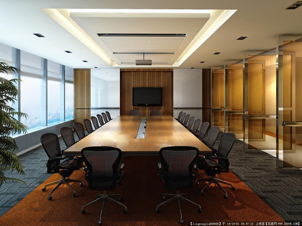 會議室室內裝飾設計方案效果圖