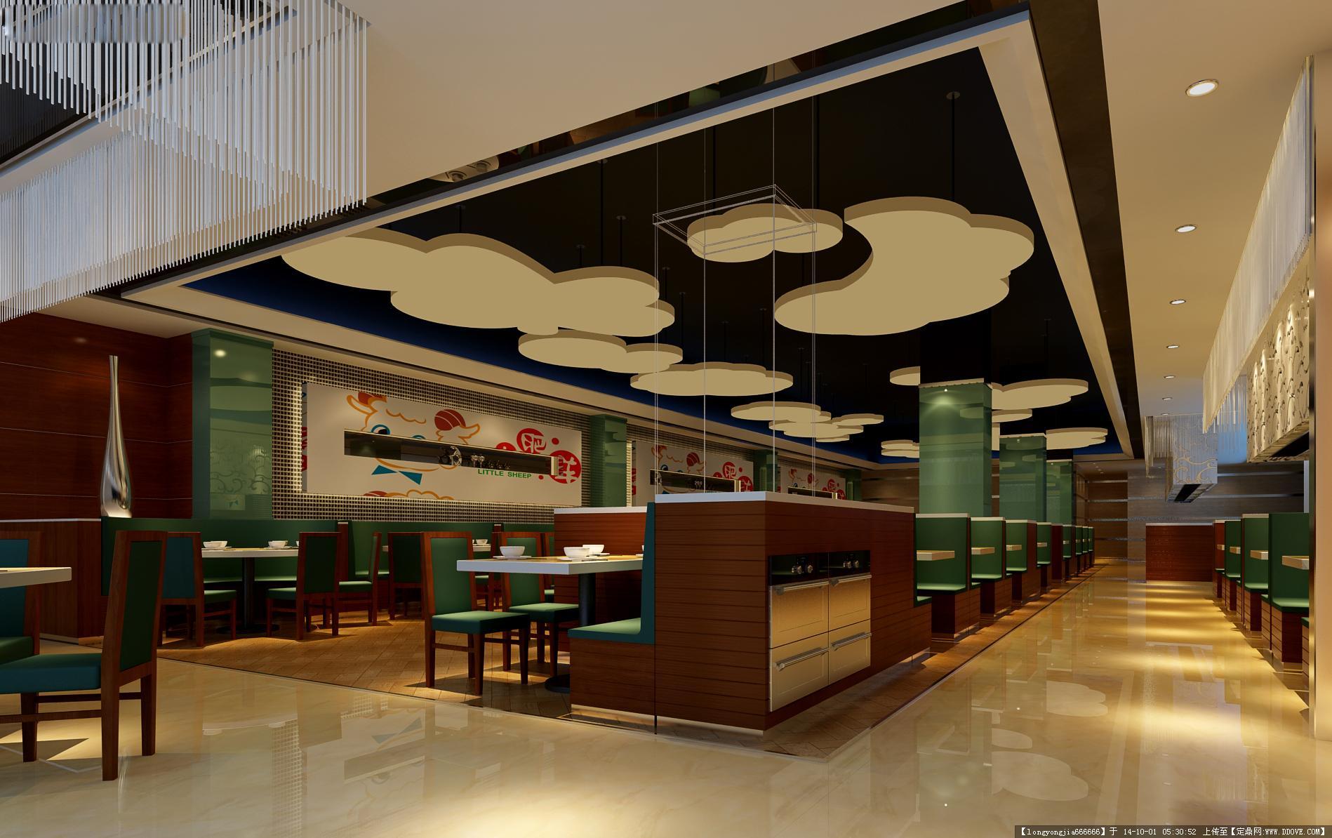 定鼎网 定鼎室内 室内效果图 酒楼餐厅 餐饮空间室内装饰设计方案效果