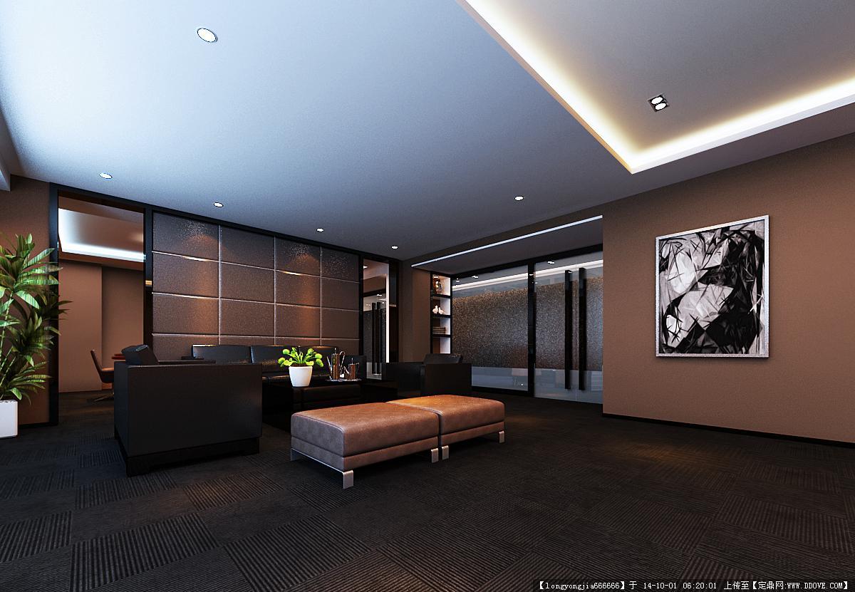 办公空间室内装修设计效果图01