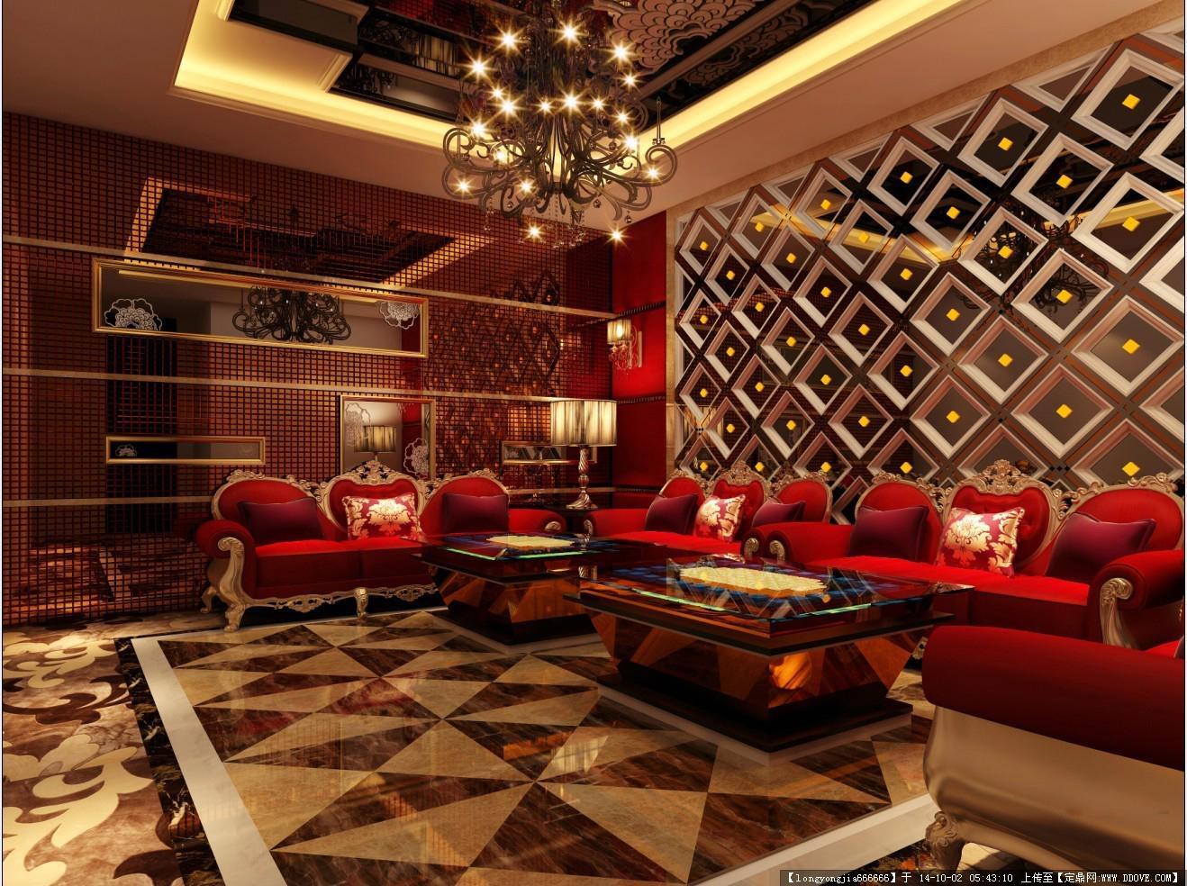 ktv 酒吧室内装修设计效果图 06