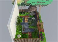 日式景观农家院设计方案含模型高清图片