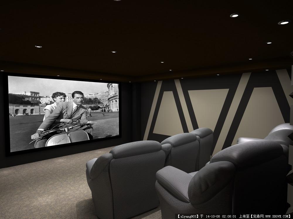 家庭影院影音室设计现代风格效果图的图片浏览,室内图