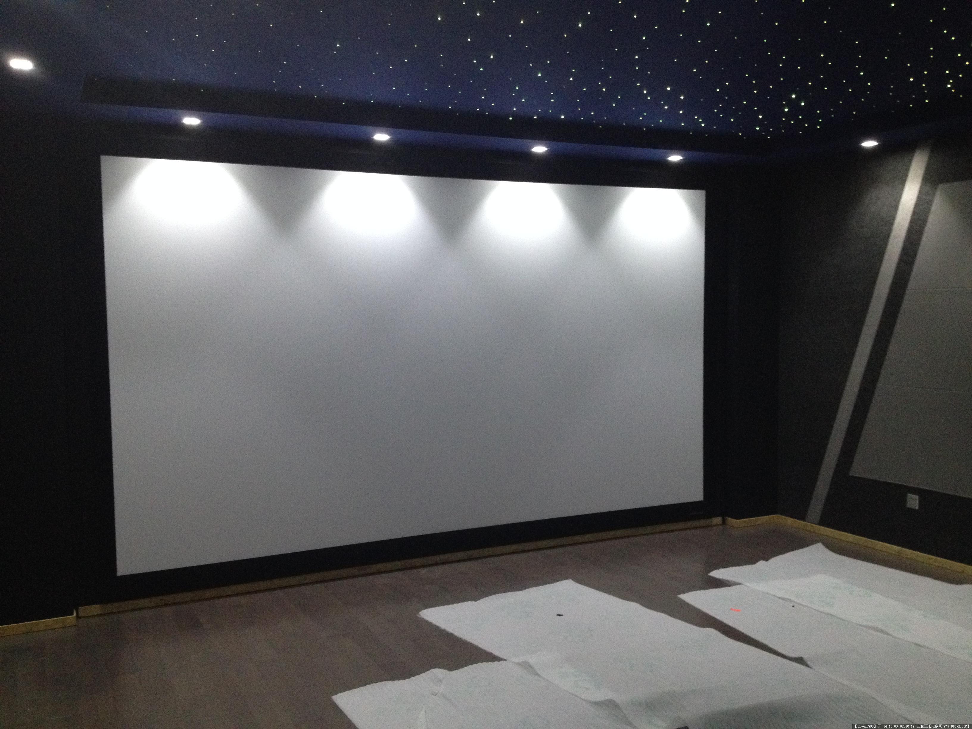 家庭影院影音室设计现代风格效果图
