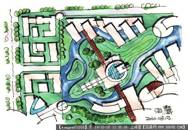马克笔规划设计效果图的下载地址,建筑效果图,手绘图