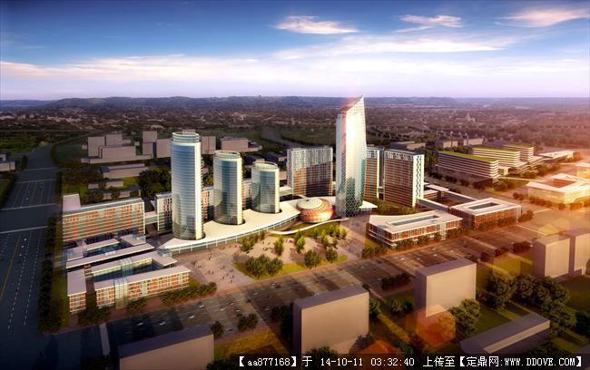 大庆高新技术产业开发区规划及建筑设计鸟瞰效果图图片