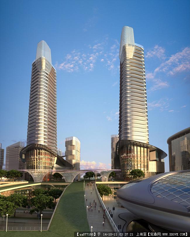 郑州高新区城市副中心规划设计鸟瞰效果图,很漂亮的大型规高清图片