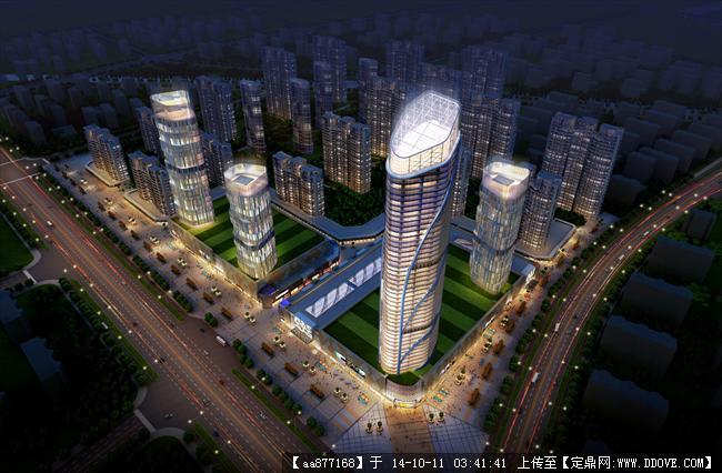 徐州大型商业建筑规划设计效果图