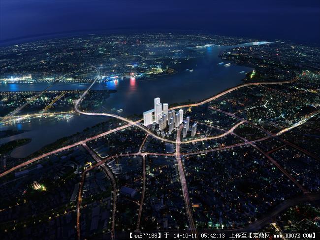 镇江中华路城市规划设计项目效果图,很漂亮的大型规划设计