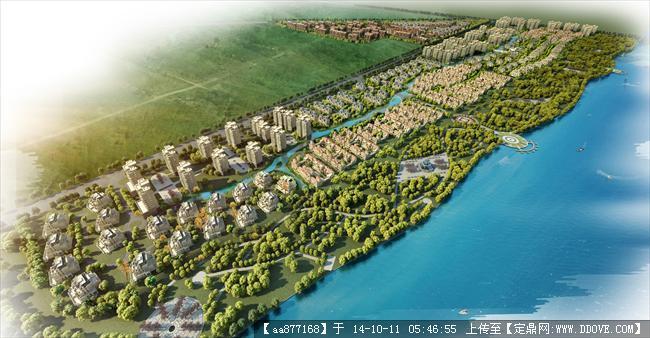 潍坊城市设计整体效果图,很漂亮的大型规划设计效果图,值得高清图片