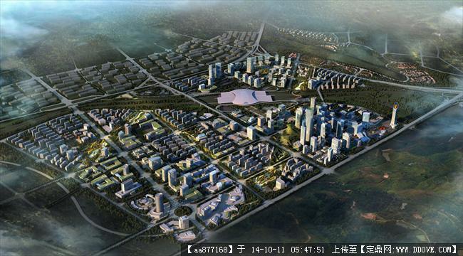 乌鲁木齐市国际会展中心片区城市设计鸟瞰图