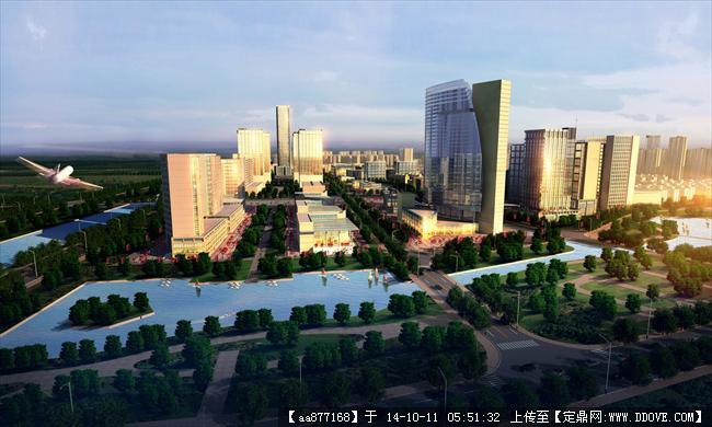 新闸城市规划设计鸟瞰效果图,很漂亮的大型规划设计效果图,高清图片