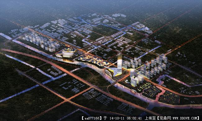 南浔项目城市规划设计效果图,很漂亮的大型规划设计效果图,高清图片