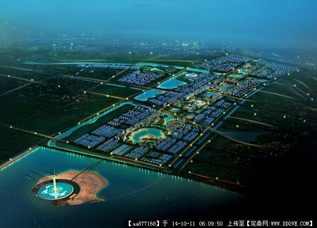 连云港徐圩城市规划设计效果图
