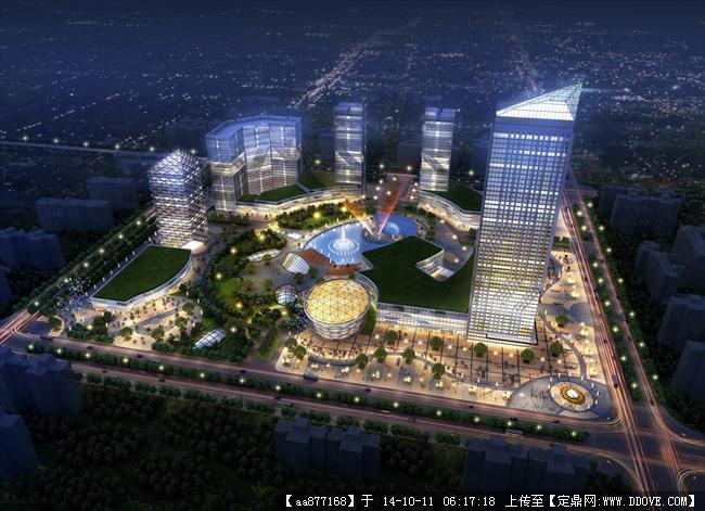 一些城市规划设计鸟瞰效果图