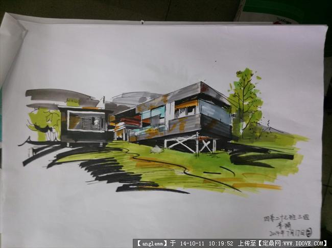 景观类马克笔上色效果图的下载地址,园林效果图,手绘