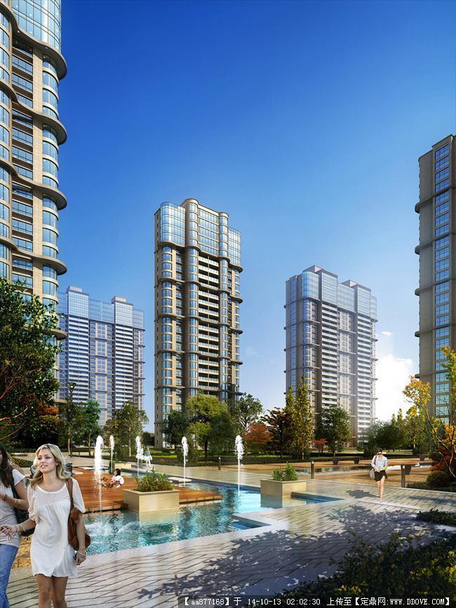 大同绿地居住建筑设计效果图