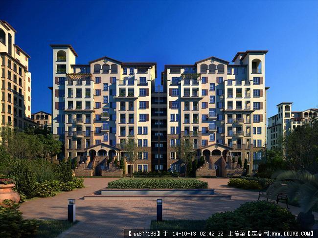 龙湖万科项目居住建筑设计效果图