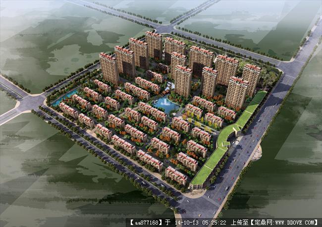 张掖住宅居住建筑设计效果图