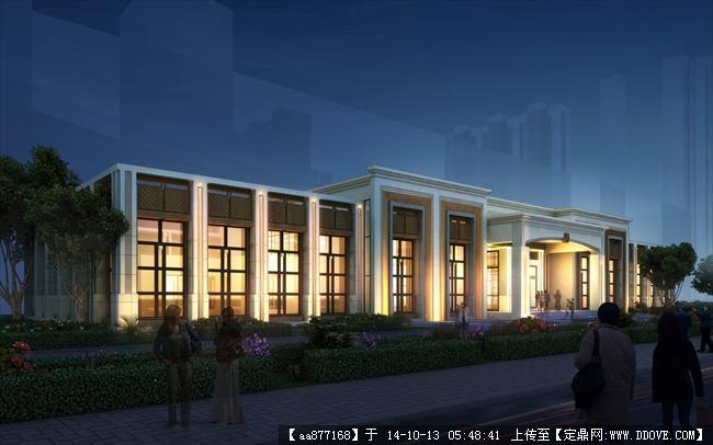 哈尔滨某售楼处建筑设计效果图图片